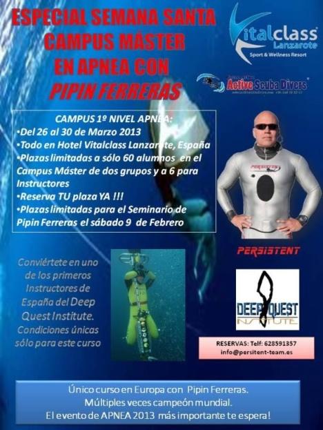 Teguise apoya el primer campus de apnea Internacional que se celebrará en Costa Teguise